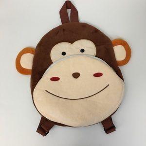 Monkey Face Plush Front Pocket Back Pack